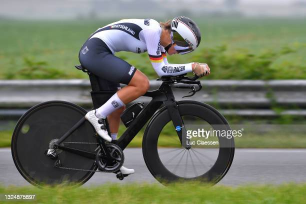 Finja Smekal of Germany and Germany National Team during the 9th Lotto Belgium Tour 2021, Prologue a 4,4km Individual Time Trial stage from Chimay to...