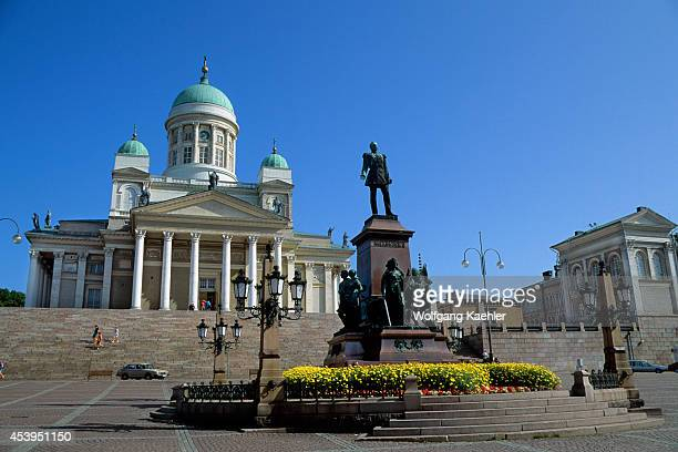 Finland Helsinki Downtown Senate Square Cathedral