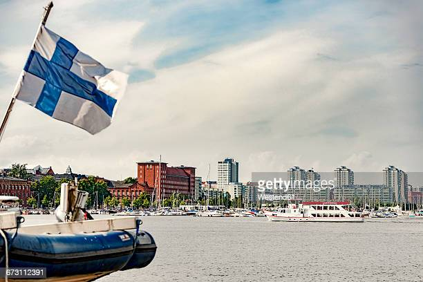 finland, helsinki, harbour and city center - ヘルシンキ ストックフォトと画像