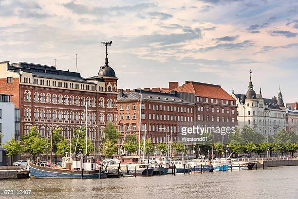 finland, helsinki, harbour and inner city - helsinki stock pictures, royalty-free photos & images