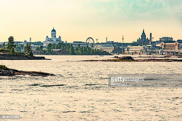 Finland, Helsinki, Harbour and inner city, Uspenski Cathedral, Helsinki Cathedral, Finnair Skywheel