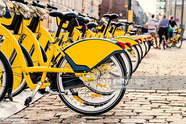 finland, helsinki, rental bikes, city bikes - helsinki stock pictures, royalty-free photos & images