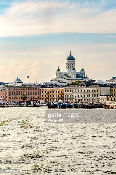 Finland, Helsinki, South harbour, Helsinki Cathedral