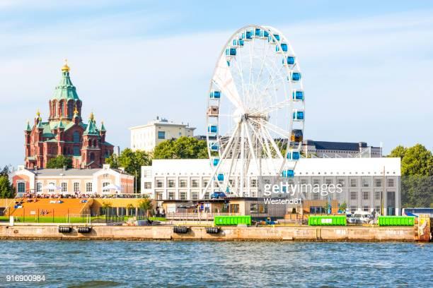 Finland, Helsinki, Uspenski Cathedral, big wheel Skywheel