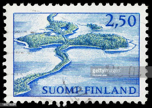 Selo postal Finlândia Punkaharju Ridge