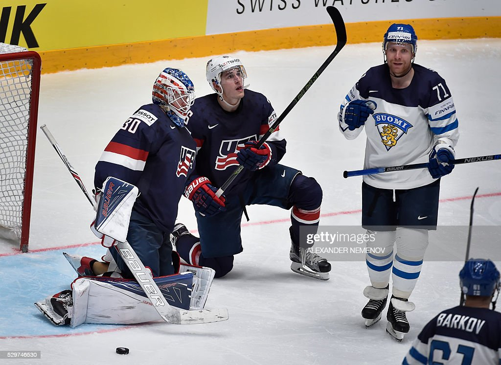 IHOCKEY-WORLD-2016-FIN-USA : News Photo
