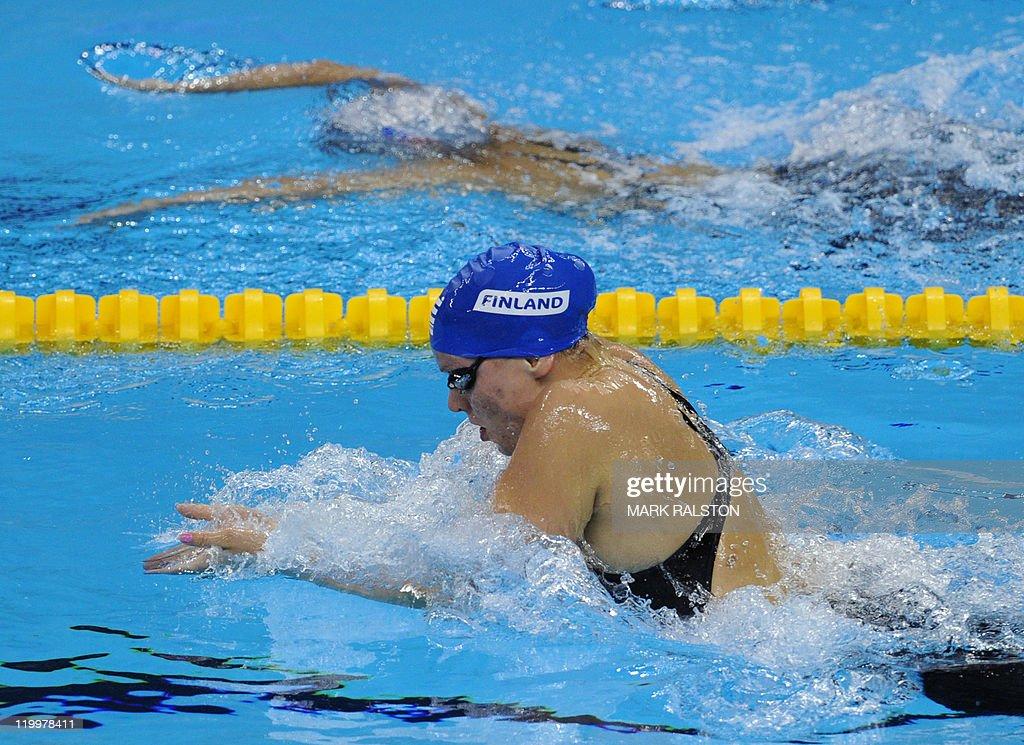 Finland's Jenna Laukkanen competes in th : News Photo