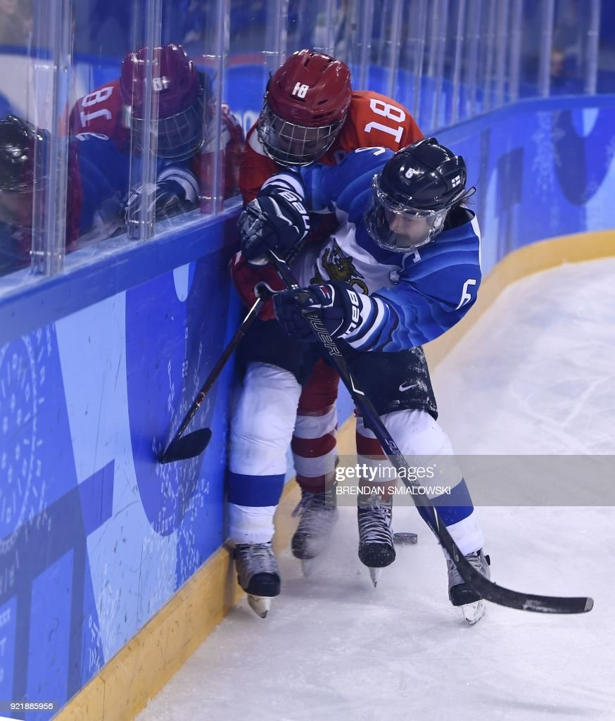 IHOCKEY-OLY-2018-PYEONGCHANG-RUS-FIN : News Photo