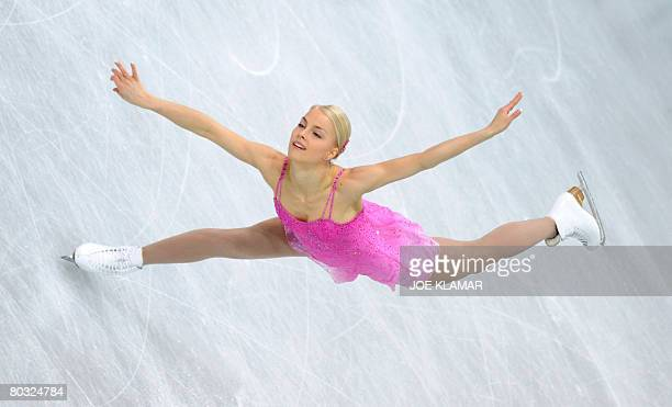 Finland's Kiira Korpi performs her free program at the Scandinavium arena in Gothenburg on March 20 during the World Figure Skating Championships...