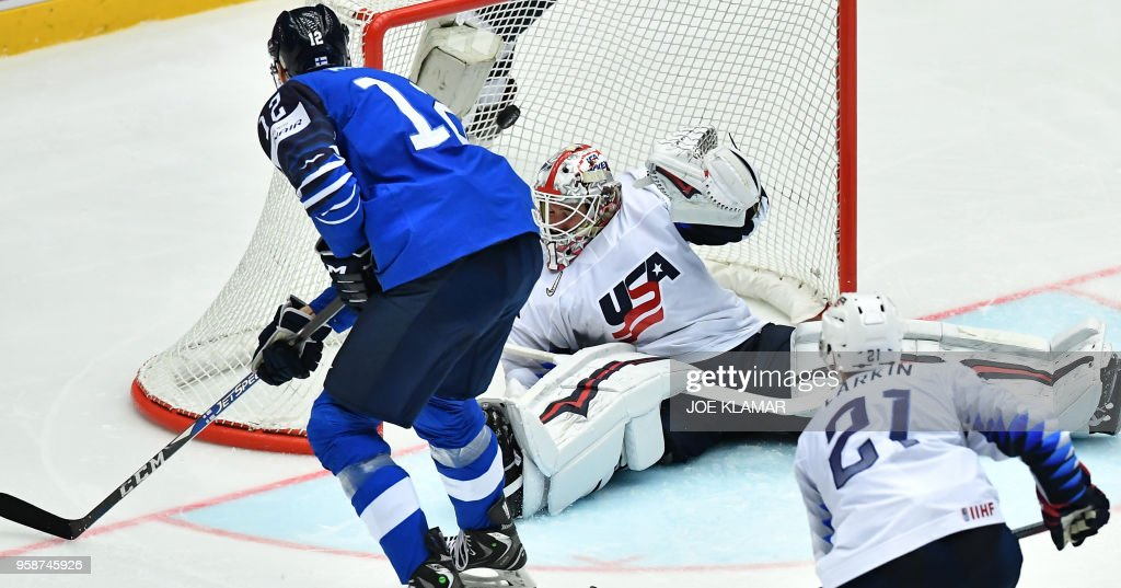 IHOCKEY-WC-2018-FIN-USA : News Photo
