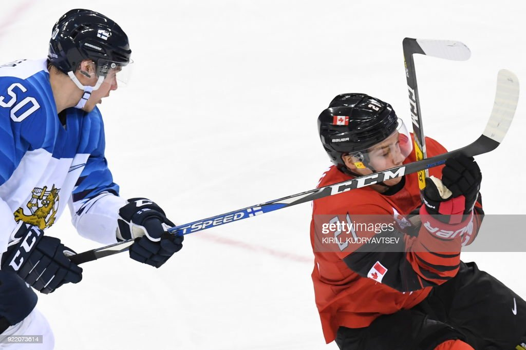IHOCKEY-OLY-2018-PYEONGCHANG-FIN-CAN : News Photo