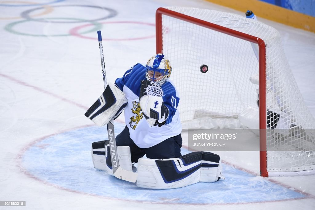 TOPSHOT-IHOCKEY-OLY-2018-PYEONGCHANG-FIN-RUS : News Photo