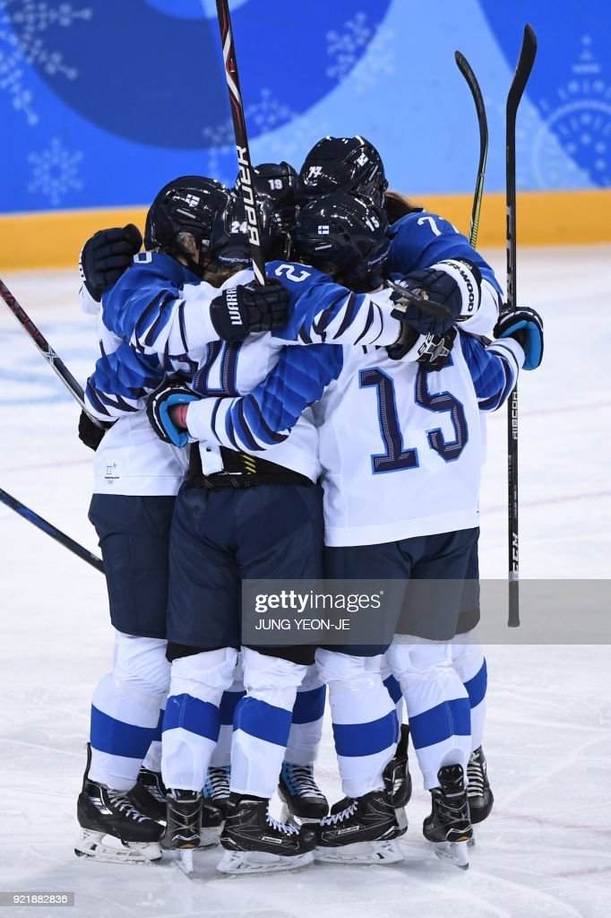 IHOCKEY-OLY-2018-PYEONGCHANG-FIN-RUS : News Photo
