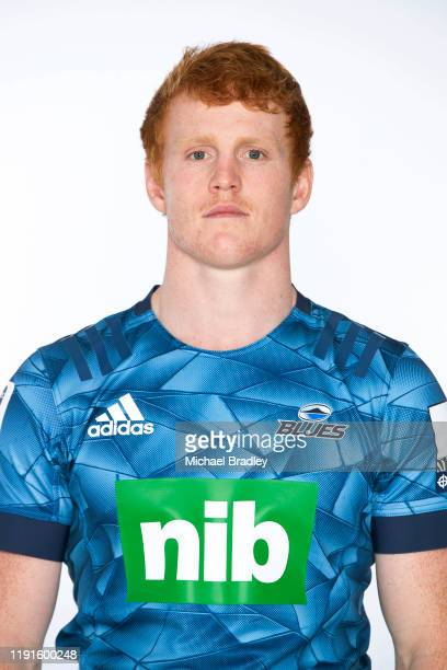 Finlay Christie poses during the Blues 2020 Super Rugby headshots session on November 26, 2019 in Auckland, New Zealand.