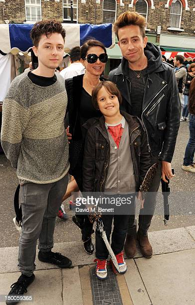 Finlay Kemp Sadie Frost Nick Grimshaw and Astile Doherty attend the Primrose Hill Festival on September 8 2013 in London England