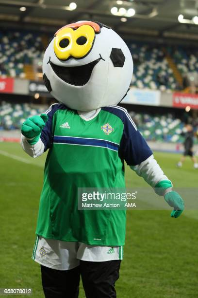 Finlay the mascot of Northern Ireland during the FIFA 2018 World Cup Qualifier between Northern Ireland and Norway at Windsor Park on March 26 2017...