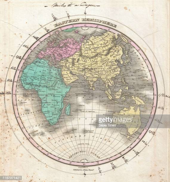 1827 Finley Map of the Eastern Hemisphere Asia Australia Europe Africa Anthony Finley mapmaker of the United States in the 19th century