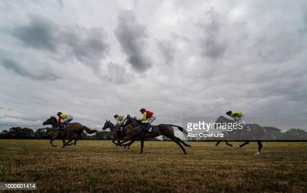 Finley Marsh riding Little Boy Blue win The Rainbow Casino Bristol Handicap Stakes at Bath Racecourse on July 17 2018 in Bath United Kingdom