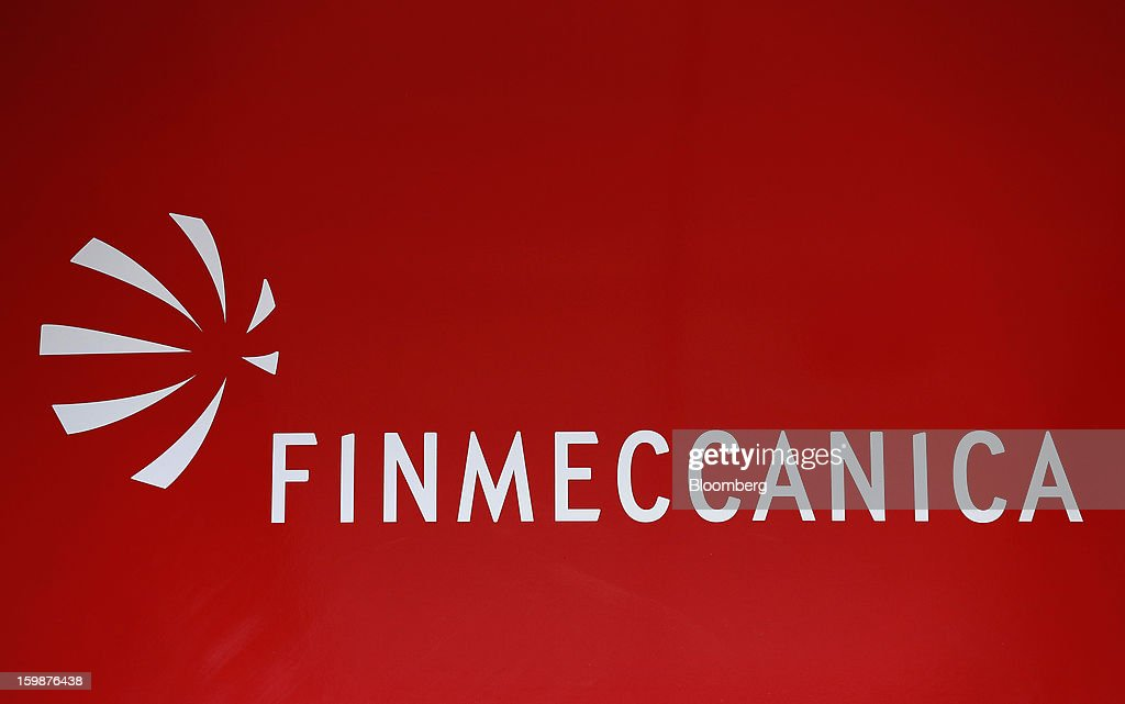 A Finmeccanica SpA logo is seen on display inside Ansaldo Energia SpA's power-plant production facility in Genoa, Italy, on Friday, Jan. 18, 2013. Finmeccanica SpA is seeking binding bids for assets, including a majority stake in Ansaldo Energia, by Jan. 23, while a final decision will be made at a later board meeting, Ansa reported Jan. 16. Photographer: Alessia Pierdomenico/Bloomberg via Getty Images