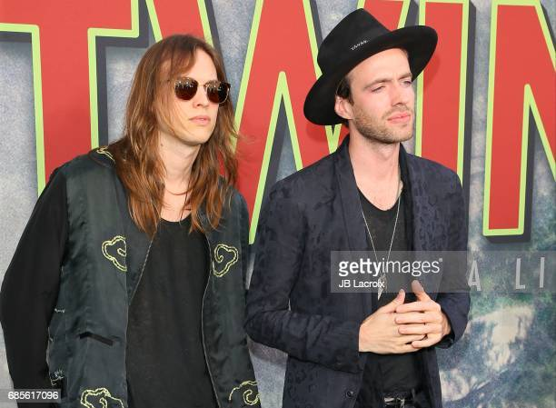 Finn Andrews and Uberto Rapisardi attend the premiere of Showtime's 'Twin Peaks' at The Theatre at Ace Hotel on May 19 2017 in Los Angeles California