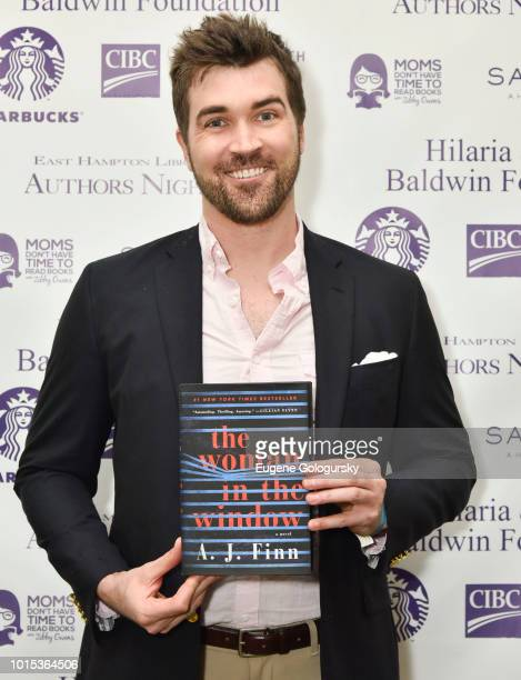 J Finn attends Authors Night At East Hampton Library on August 11 2018 in East Hampton New York