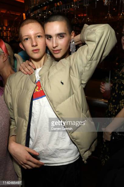 Finn Buchanan and Maxim Magnus attend the Pat McGrath 'A Technicolour Odyssey' Campaign launch party at Brasserie of Light Selfridges on April 04...
