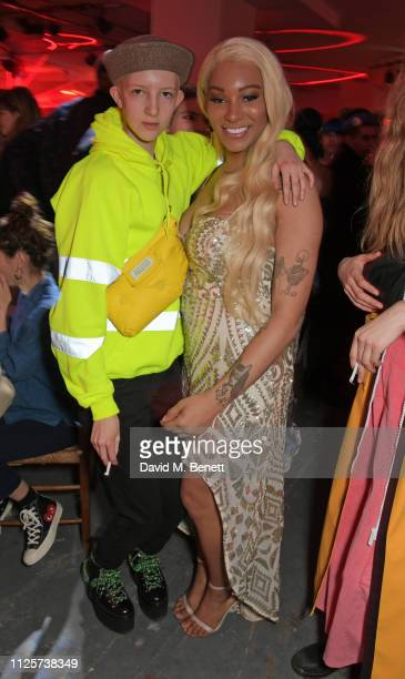 Finn Buchanan and Munroe Bergdorf attend the LOVE x The Store X party celebrating LOVE issue 21 supported by Perrier Jouet at The Store X on February...