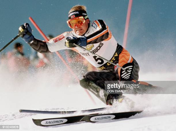 Finn Christian Jagge of Norway passes a gate 22 November during the first run of the mens World Cup Slalom in Park City UT Jagge finished in third...