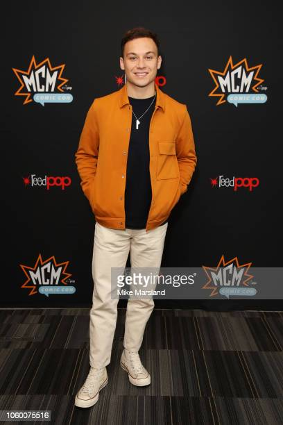 Finn Cole attends the 'Slaughterhouse Rulez' panel taking place during MCM London Comic Con at ExCel on October 27 2018 in London England