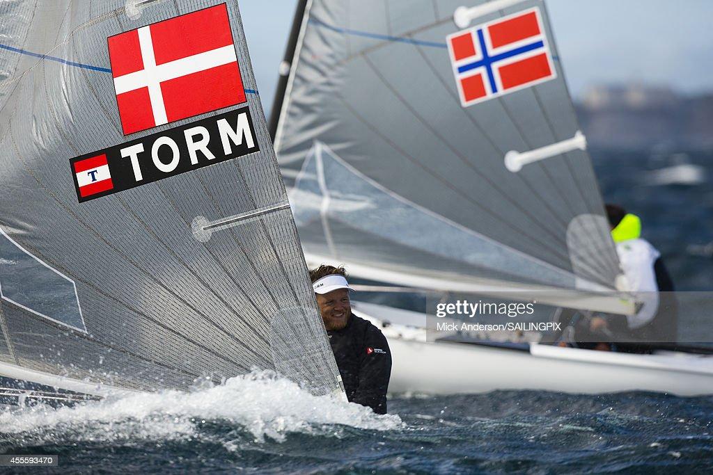 Finn - DEN2 - Jonas HOEGH-CHRISTENSEN in action during Day 6 of the 2014 ISAF Sailing World Championships on September 17, 2014 in Santander, Spain.