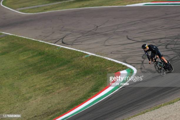 Finn Fisher-Black of New Zealand / during the 93rd UCI Road World Championships 2020, Men Elite Individual Time Trial a 31,7km race from Imola to...