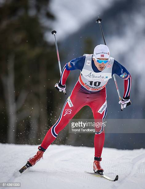 Finn Haagen Krogh during Cross Country Men 15 km Sprint Classic on March 08 2016 in Canmore Canada