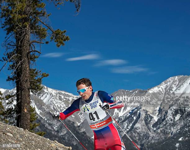 Finn Haagen Krogh during Cross Country Men 150 km Individual Free on March 11 2016 in Canmore Canada