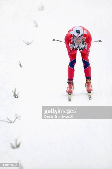 Finn Haagen Krogh of Norway competes in the Men's 4 0km Free