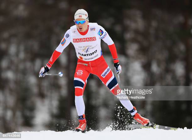 Finn Haagen Krogh of Norway competes in the Men's 4x10km Cross Country Relay during the FIS Nordic World Ski Championships on March 3 2017 in Lahti...