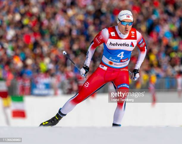 Finn Hagen Krogh of Norway during FIS Nordic World Ski Championship Cross Country Men 16 km Sprint Free at Seefeld / Tirol on February 21 2019 in...