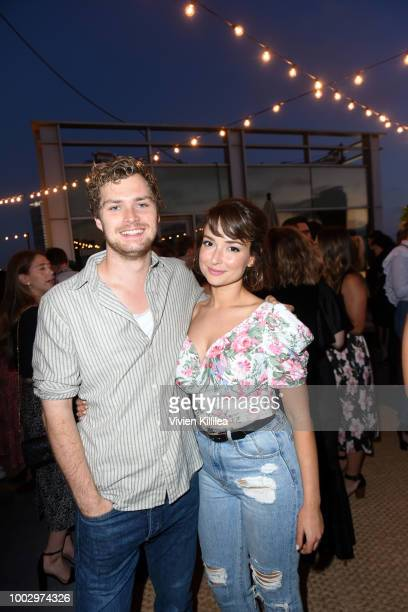 Finn Jones and Milana Vayntrub attend Entertainment Weekly and Marvel Television host an After Dark Party at San Diego ComicCon 2018 at Hard Rock...