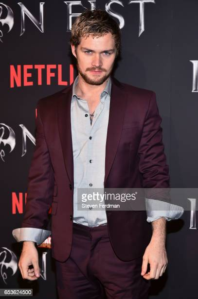 Finn Jones arrives at the New York screening of Marvel's 'Iron Fist' at AMC Empire 25 on March 15 2017 in New York City