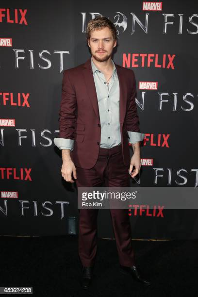 Finn Jones attends Marvel's Iron Fist New York Screening at AMC Empire 25 Times Square on March 15 2017 in New York City