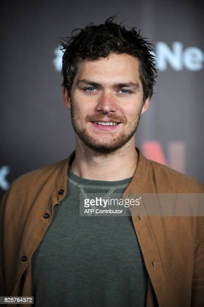 Finn Jones from the cast of Marvel's The Defenders poses for photographs during a Netflix Red Carpet #ViveNetflix in Mexico City on August 02 2017 /...