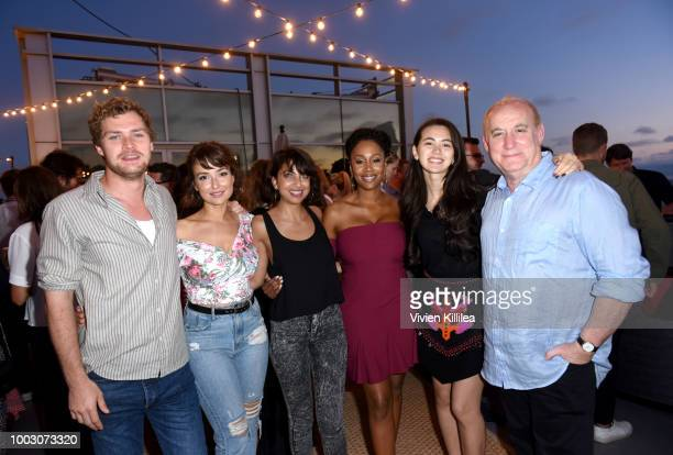 Finn Jones Milana Vayntrub Kathreen Khavari Simone Missick Jessica Henwick and Jeph Loeb attend Entertainment Weekly and Marvel Television host an...