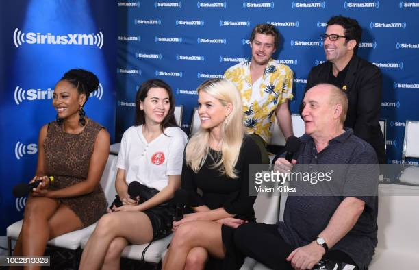Finn Jones Raven Metzner Simone Missick Jessica Henwick Alice Eve and Jeph Loeb attend SiriusXM's Entertainment Weekly Radio Broadcasts Live From...