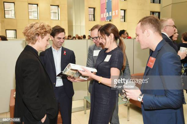 Finn McMurray and Quinn Tivey of the Elizabeth Taylor AIDS Foundation attend the 4th Annual Town Country Philanthropy Summit at Hearst Tower on May 9...