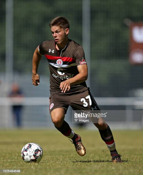 Finn Ole Becker of St Pauli controls the ball during the preseason friendly match between SV Eutin 08 and FC St Pauli on July 1 2018 in Eutin Germany