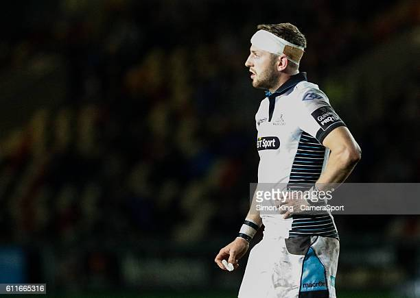 Finn Russell of Glasgow Warriors during the Guinness PRO12 Round 5 match between Newport Gwent Dragons and Glasgow Warriors at Rodney Parade on...