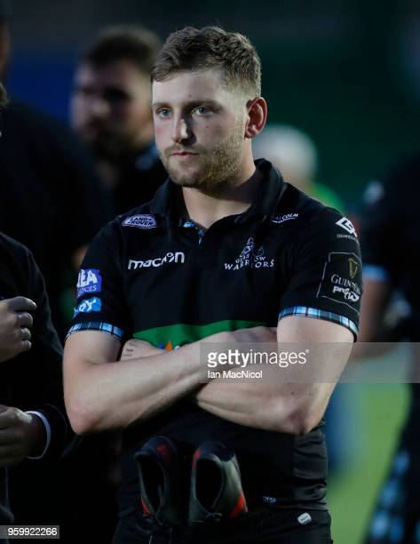 Finn Russell of Glasgow Warriors looks on during the Guinness Pro14 Semi Final match between Glasgow Warriors and Scarlets at Scotstoun Stadium on...