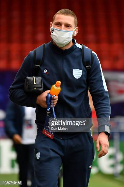 Finn Russell of Racing 92 arrives prior to the Heineken Champions Cup Final match between Exeter Chiefs and Racing 92 at Ashton Gate on October 17...