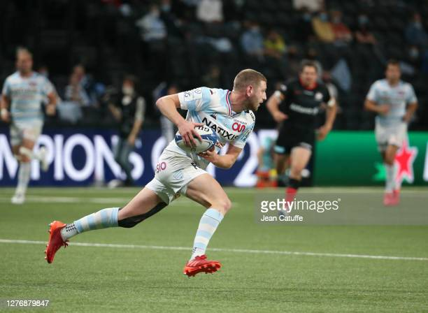 Finn Russell of Racing 92 during the Heineken Champions Cup Semi Final match between Racing 92 and Saracens at Paris La Defense Arena on September 26...