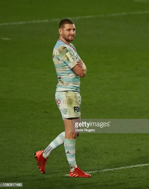 Finn Russell of Racing 92 looks dejected after his teams defeat during the Heineken Champions Cup Final match between Exeter Chiefs and Racing 92 at...