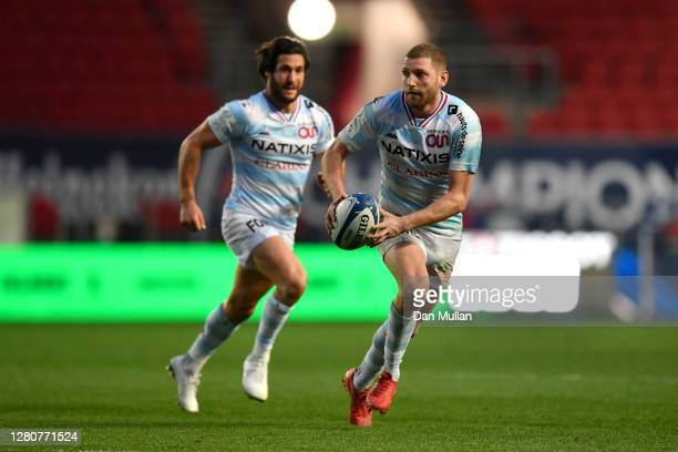 Finn Russell of Racing 92 runs with the ball during the Heineken Champions Cup Final match between Exeter Chiefs and Racing 92 at Ashton Gate on...